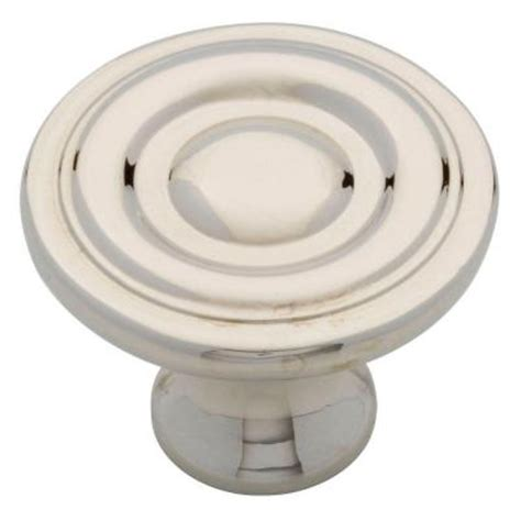 home depot kitchen cabinet knobs liberty 1 1 4 in polished nickel ring round cabinet knob