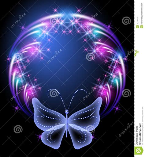 imagenes de mariposas que brillen glowing frame and transparent butterfly royalty free stock
