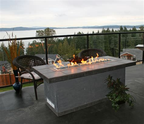 Outdoor Fireplace Table by Elements Outdoor Products Lineal Table