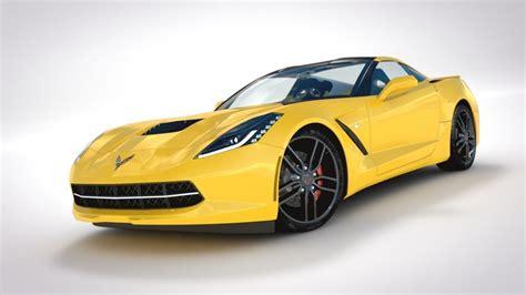 corvette c7 model corvette c7 stingray 2014 3d model obj 3ds fbx lwo lw lws