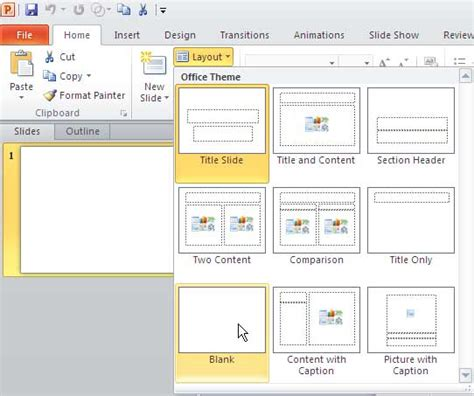 layout of a powerpoint image gallery slide layout