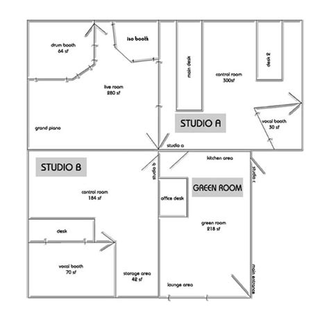 recording studio floor plans lofish recording studios new york
