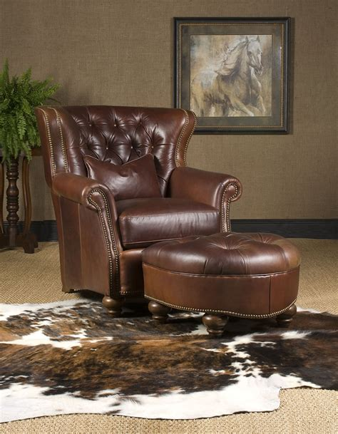 high end recliner leather chair ottoman high end furniture
