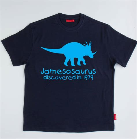 s personalised dinosaur t shirt by simply colors