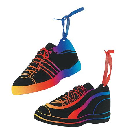 magic color scratch tennis shoe ornaments oriental trading
