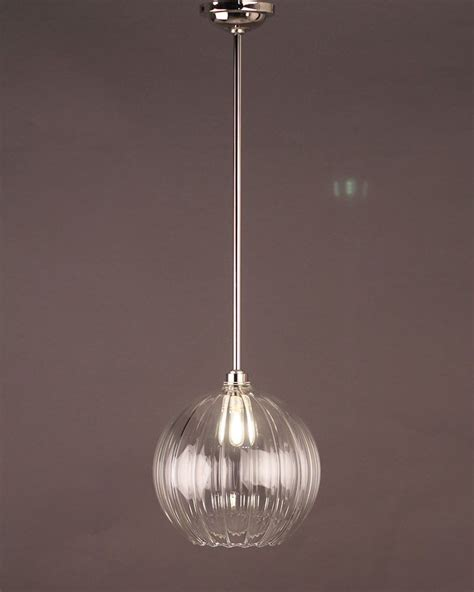 Handmade Lighting Uk - globe light hereford ribbed glass globe bathroom ceiling