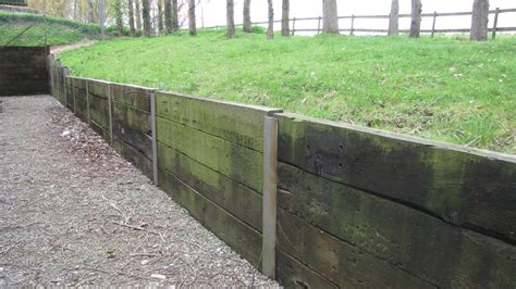 Sleeper Wall by Construction Of Board Walk With A Sleeper Retaining Wall
