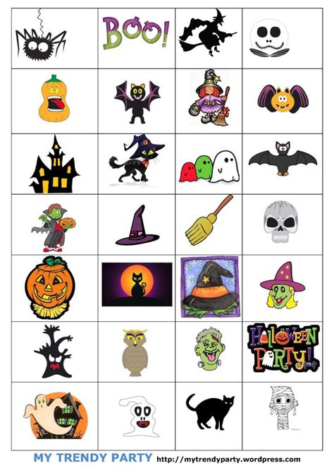 2014 trendy words bingo para halloween juegos para ni 209 os my trendy party