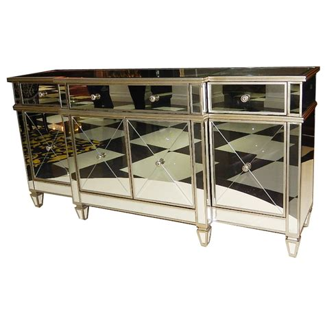Mirrored Buffet Cabinet by Antique Finish Large Mirrored Buffet Cabinet Buy Large