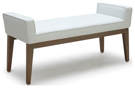 contemporary upholstered bench chelsea bench contemporary upholstered benches by inmod