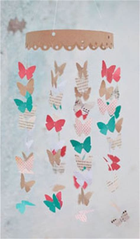 How To Make A Paper Butterfly Mobile - paper butterfly mobile favecrafts