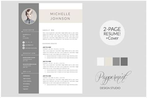 Popular Resume Templates Creative Market Modern Resume Templates Docx To Make Recruiters Awe