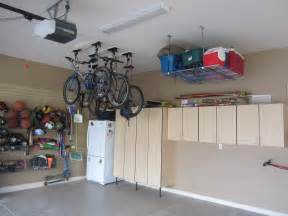 No Garage Storage Ideas Garage Ceiling Storage Overhead Bicycle And Cooler