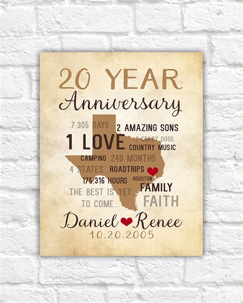 Cool Parents Get Him 2 by Anniversary Gifts For 20th Anniversary Gift For Him Or