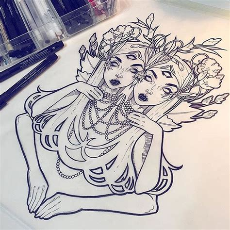Tattoo Sketches Instagram | throwback to the twins tbt forgoing a follower sketch
