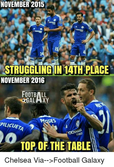Chelsea Meme - november 2015 243 struggling in 1ath place november 2016