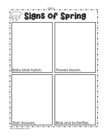 index of images printables spring signs of spring worksheet worksheets