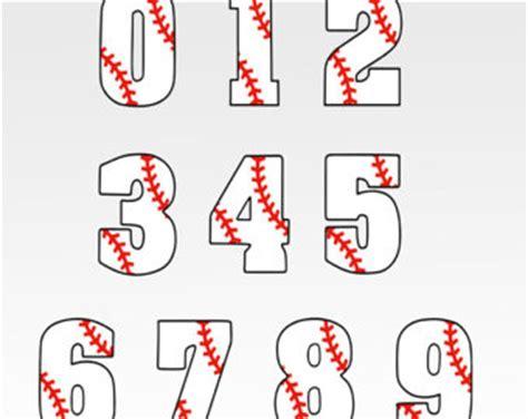 printable baseball numbers baseball numbers svg etsy