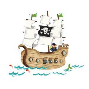 Baby Room Wall Stickers Uk roommates wandsticker wandtattoo piratenschiff riesen