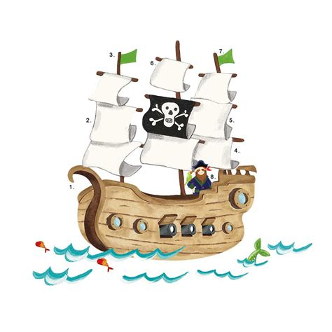 Roommates Wall Stickers Uk roommates wandsticker wandtattoo piratenschiff piraten