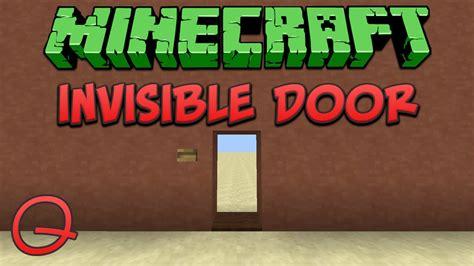 minecraft invisible door quick tutorial youtube