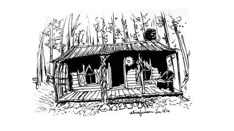 cabin sketch cabin drawing www imgkid the image kid has it