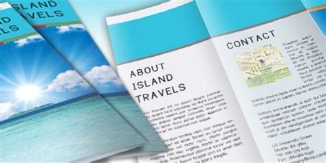 island brochure template free indesign templates dozens of professional