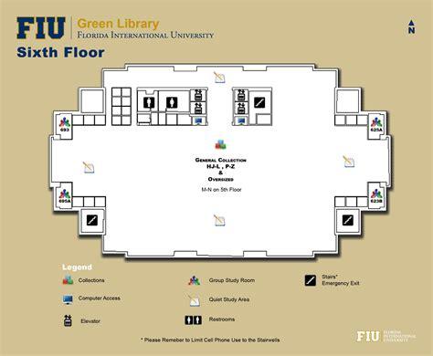 fiu study room library floorplans fiu libraries