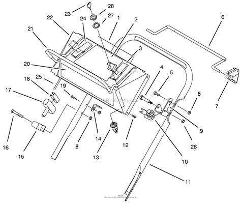 lawn boy  gold series lawnmower  sn   parts diagram  upper handle