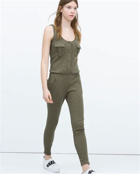 Zara Overall By Aqeela 1 image 3 of ribbed jumpsuit from zara fashion 2015