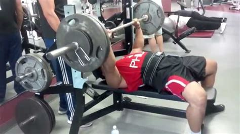 bench press big 5 big o bench press 265 youtube