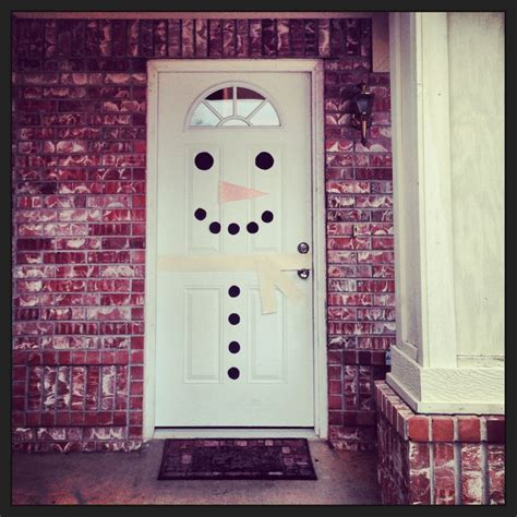 Diy Room Door Decor by Snowman Door Decoration Diy