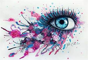 Towers Flowers - over exaggerated ocular art eye art
