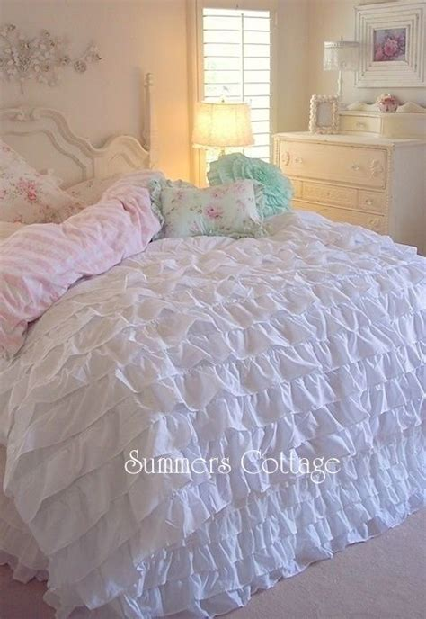 shabby cottage chic layers of dreamy white ruffles