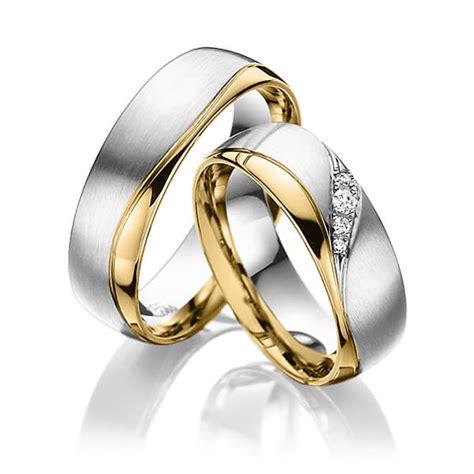 Paar Verlobungsringe by Trauringe Wei 223 Gold 585 Gelbgold 585 Mit 0 06 Ct Tw Si