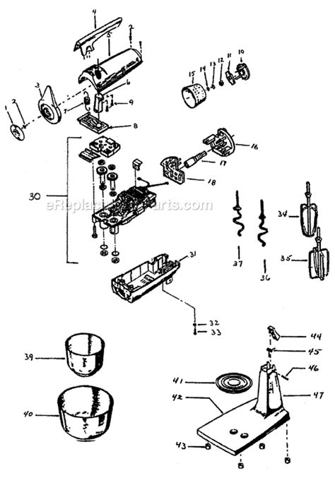 Sunbeam 2360 1 Parts List and Diagram : eReplacementParts.com