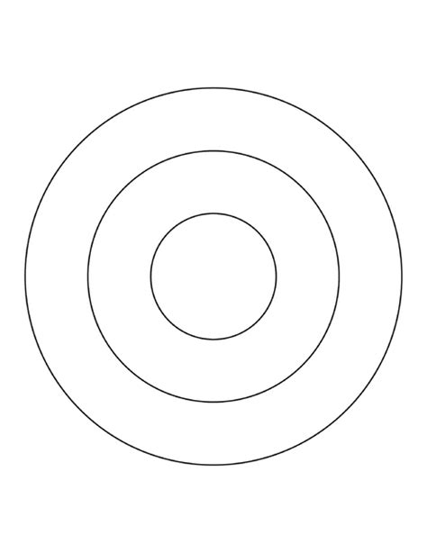 3 Concentric Circles Clipart Etc Concentric Circles Template