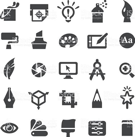 layout vector icons graphic design icons set smart series stock vector art