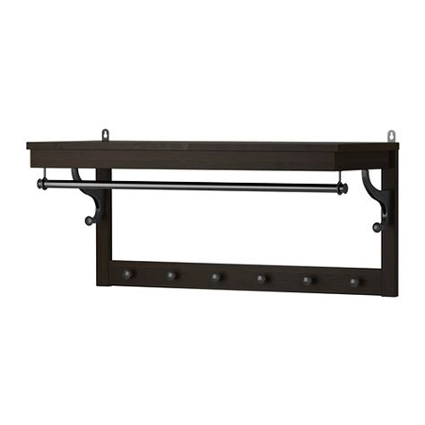 wall mounted coat rack ikea hemnes hat rack black brown ikea