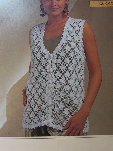 pattern crochet vest womens new bernat ladies clothing crochet patterns diamond lace