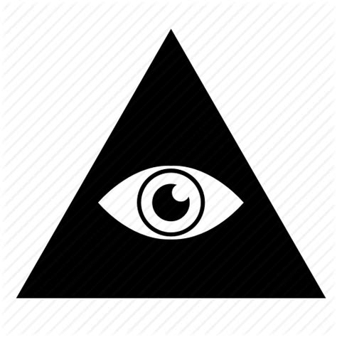 illuminati eye pyramid eye illuminati label pyramid sect sign icon icon