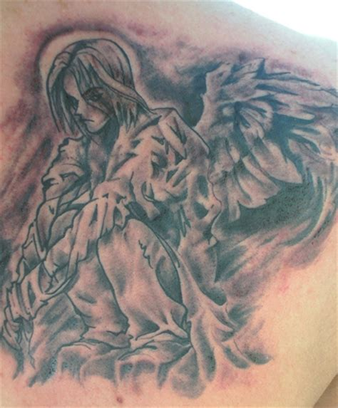 kneeling angel tattoo praying tattoos sylvie guillems
