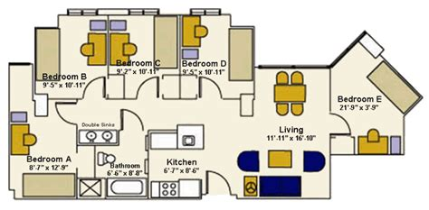 Single Story House Plans With 2 Master Suites by Building B Quot The Apartments Quot University Housing Services