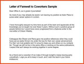 how to write a farewell letter to coworkers