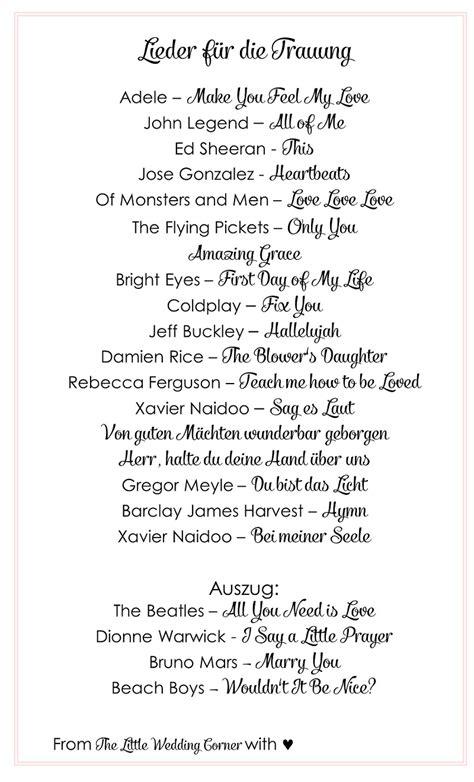 Moderne Liebesbriefe Vorlagen Die Sch 246 Nsten Lieder F 252 R Die Trauung Hochzeitsblog The Wedding Corner