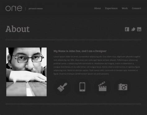 Resume Template Website by 21 Professional Html Css Resume Templates For Free