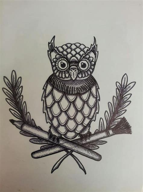 1950s tattoos retro style owl zeek tattoos