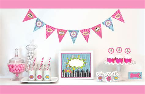 super girl themes v 1 items similar to supergirl birthday party supplies and