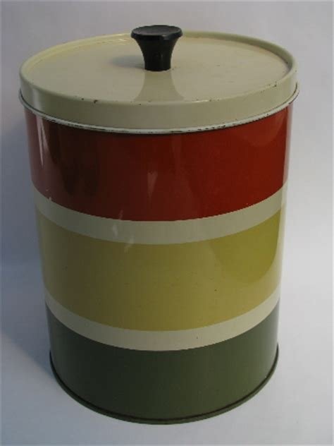 retro kitchen canister sets vintage metal kitchen canister sets 60s vintage striped metal kitchen canisters retro