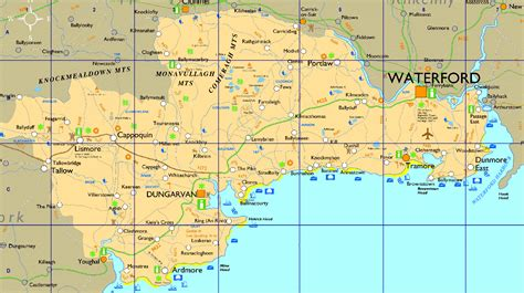 map of waterford city county waterford